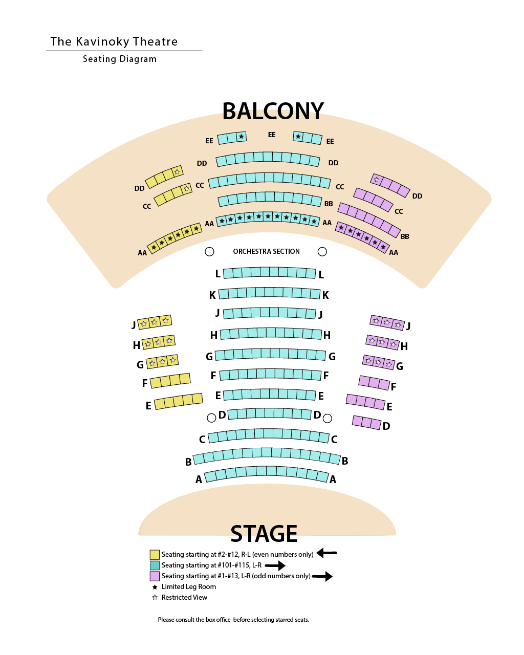 graphic: Kavinoky Theatre seating diagram